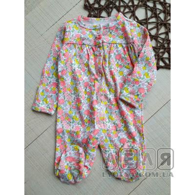 купить человечек Flowers ТМ Carters для девочки в цветочек новорожденной