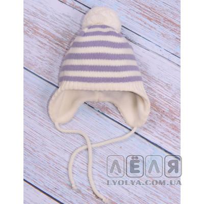 Шапка зимняя светло-фиолетовая ТМ EsliKids