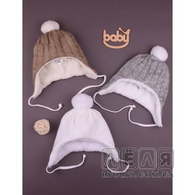 Теплая шапочка Вьязка