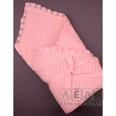 Вязаный конверт-одеяло белый ТМ Фламинго