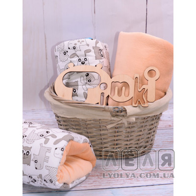 Подушка для кормления Зверюшки персиковая от TM Timki