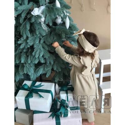 купить теплое платье с повязкой Анютка ТМ Litlle angel