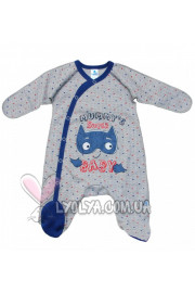 Комбинезон «Super baby» синий рисунок ТМ Minikin