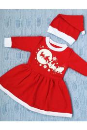 Платье Новогоднее с колпачком для малышки