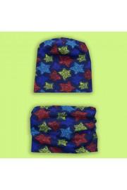 Комплект шапка+манишка Звезды