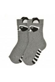 Махровые носки Енотик серые ТМ Duna