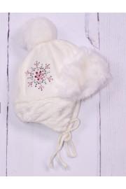 Шапка Снежинка белая ТМ Tutu