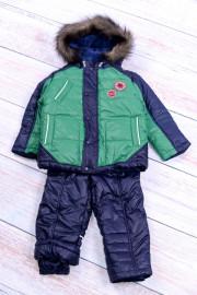 Зимний костюм для мальчика зеленый ТМ Бемби кс455
