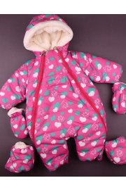 Зимний комбинезон для малышей 32014 Сердечки, ТМ Одягайко