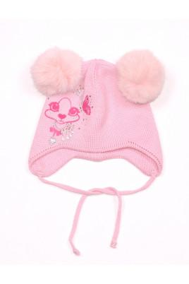 "Шапка зимняя для девочки ""Style""  розовая ТМ Tutu"