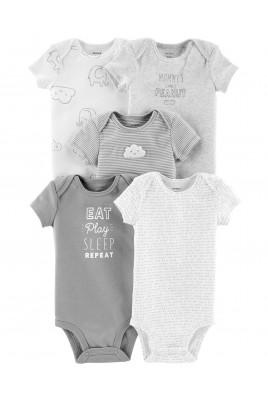 Набор из 5-ти боди для малышей Тучки ТМ Сarters