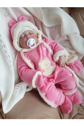 купить демисезонный комбинезон Умка розовый для девочки новорожденной