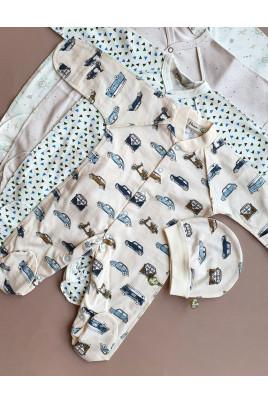Купить Комплект для новорожденного слип и шапочка ТМ Няня