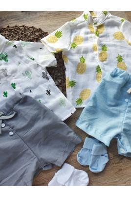 Купить егкий летний костюм для мальчика с рубашкой ТМ Пупчик