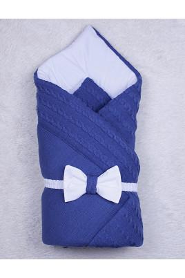 Зимний конверт на выписку Глория, синий ТМ Brilliant baby