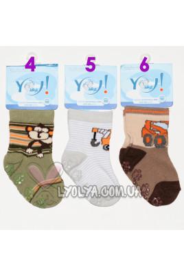 Носочки для мальчика c тормозами YO!