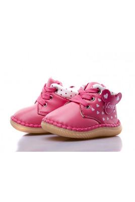 Ботинки для девочки розовые ТМ Apawwa