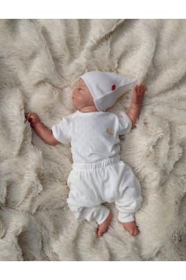 Летний комплект для новорожденных из 3х предметов Нежность (молочный) ТМ Brilliant Baby