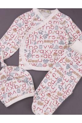 Комплект для новорожденных с распашонкой Алфавит ТМ Няня