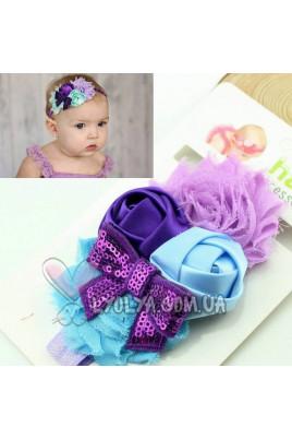 """Повязочка """"Фиолетовый бантик"""""""