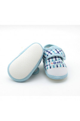 Пинетки для малыша Голубая клеточка