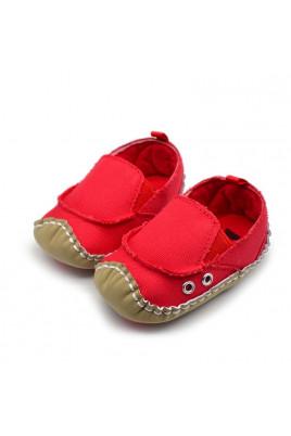 Мокасины детские красные