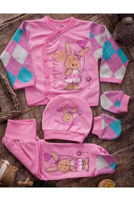 Комплект розовый для девочек