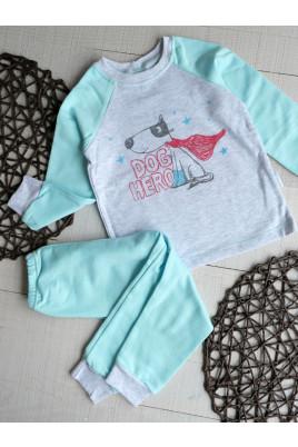 Купить пижаму для мальчика теплую Dog, футер ТМ Sweet Mario