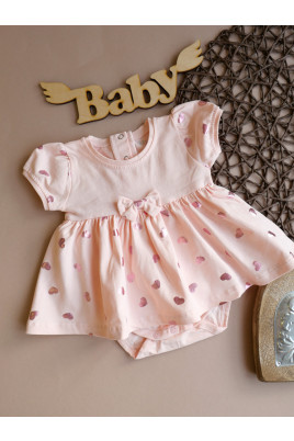 Купить Боди-платье для девочки Сердечки ТМ Фламинго