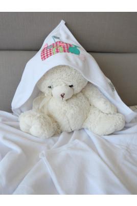 Купить Полотенце-уголок и варежка для купания малыша Замок, ТМ Aziz Турция