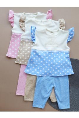 Купить Летний комплект для маленькой девочки с туникой и трессами Princess ТМ Timki