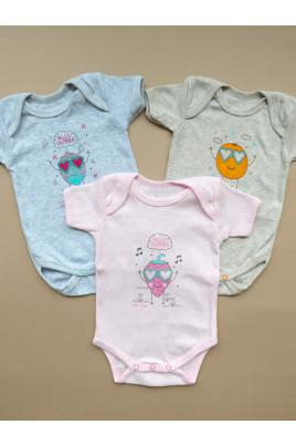 Купить Боди из ажурной ткани с коротким рукавом для малышей ТМ Маленькие люди