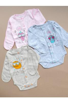 Купить Боди из ажурной ткани для малышей на кнопочках ТМ Маленькие люди