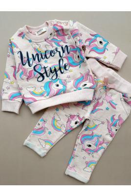 Купить Костюм для девочки Unicorn бежевый ТМ Breeze girls