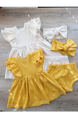 Купить Летний комплект Тетянка для девочки платье блумеры и повязка