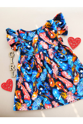 Купить Платье летнее для девочки Перышки ,кулир ТМ Timki