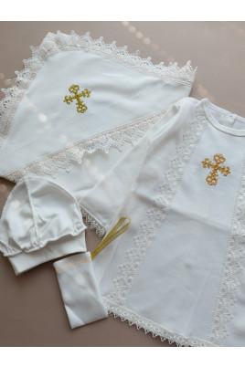 Комплект крестильный с рубашкой