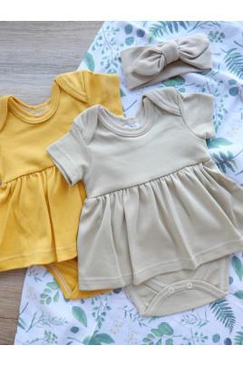 Купить Боди-платье для девочки с коротким рукавом Кендис