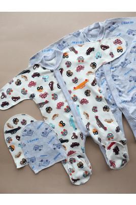 Купить Комплект для новорожденных с человечком Транспорт ТМ Пупчик