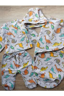 Купить Комплект в роддом из 4х предметов с пеленкой кокон Dino, футерт  ТМ Timki