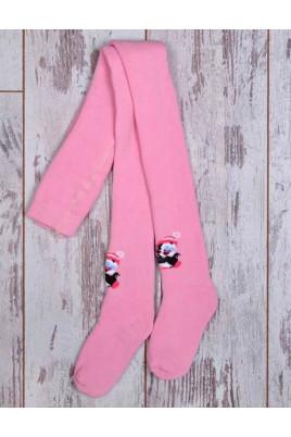 Махровые колготы Пингвин розовые ТМ Дюна