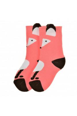 Махровые носочки Лисичка коралловые ТМ Duna,5в405