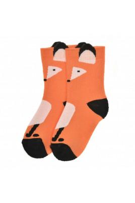 Махровые носочки Лисичка оранжевые ТМ Duna