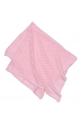Плед вязаный розовый ТМ Фламинго