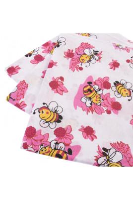 Пеленка хлопковая Пчелки, 95*110см, ТМ Руно