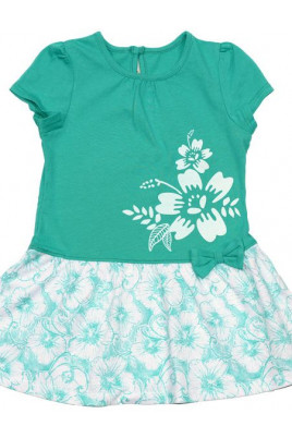Платье Flower бирюзовое ТМ Bembi
