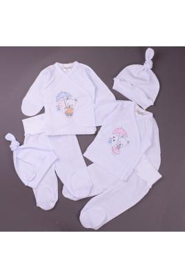 Комплект с распашонкой для новорожденных Teddy