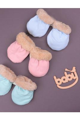 Рукавички для малышей Теплые лапки в разных цветах
