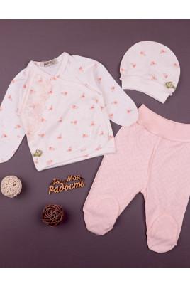 Комплект для новорожденных с распашонкой Цветочек кружево ТМ Няня