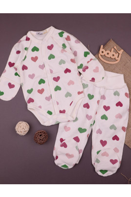 Комплект с боди для новорожденных Веселое сердечко ТМ Няня